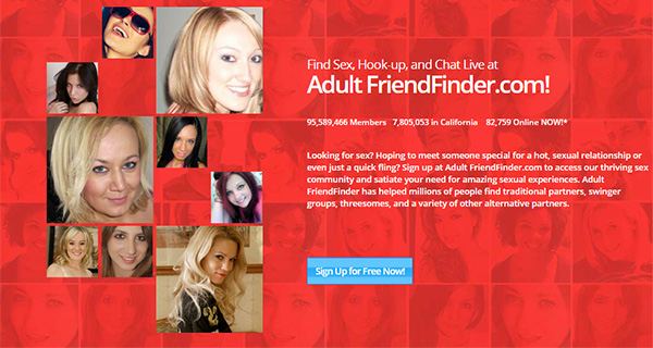 AdultFriendFinder Review - Website Page