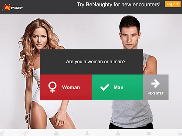 BeNaughty Review - Website Home
