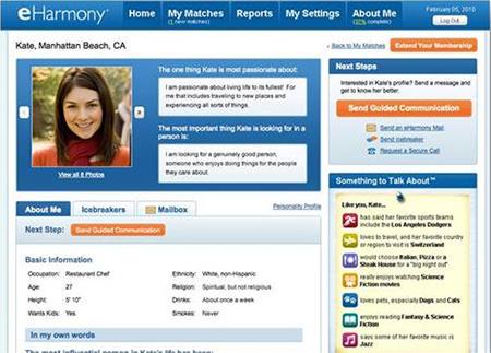 eHarmony Review - Profile