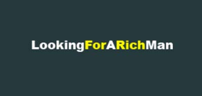 An image of Looking For A Rich Man official logo.